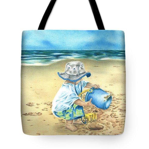 Playing On The Beach Tote Bag by Troy Levesque