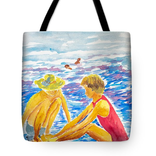 Playing On The Beach Tote Bag