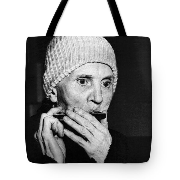 Playing On The Streets For Pennies Tote Bag by Underwood Archives
