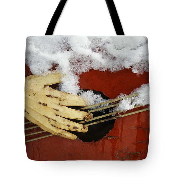 Playing The Cold Blues Tote Bag