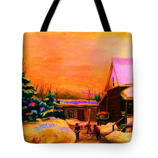 Playing Until The Sun Sets Tote Bag by Carole Spandau