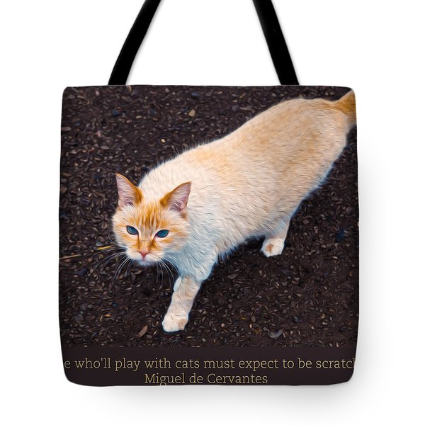 Playing With Cats Tote Bag by Omaste Witkowski