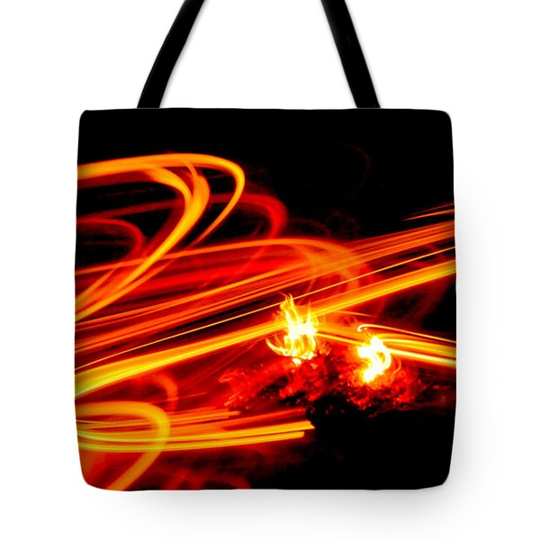 Playing With Fire 4 Tote Bag by Cheryl McClure