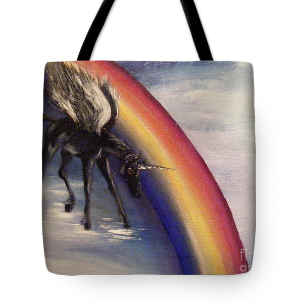 Playing With Rainbow Tote Bag
