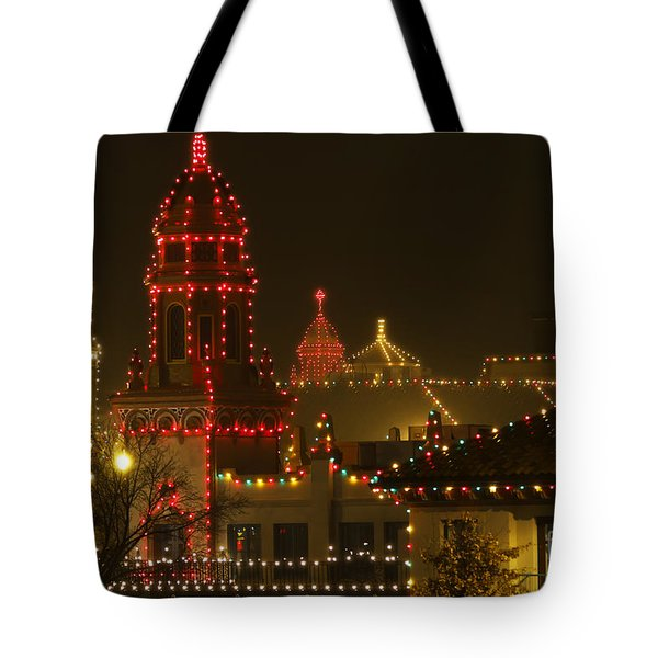 Plaza Christmas Lights Tote Bag