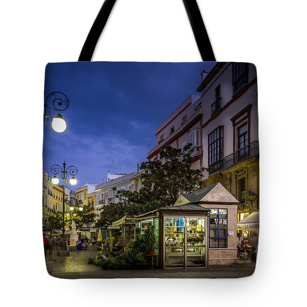 Plaza De Las Flores Cadiz Spain Tote Bag