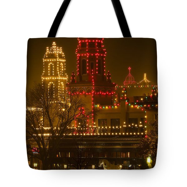 Plaza Lights On A Rainy Night Tote Bag