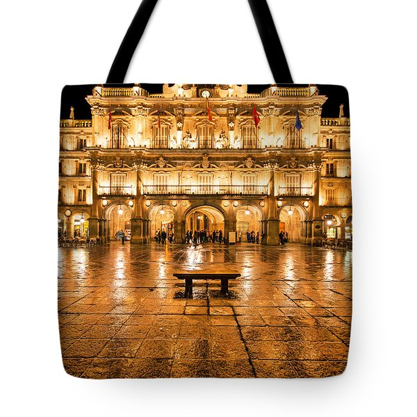 Plaza Mayor In Salamanca Tote Bag