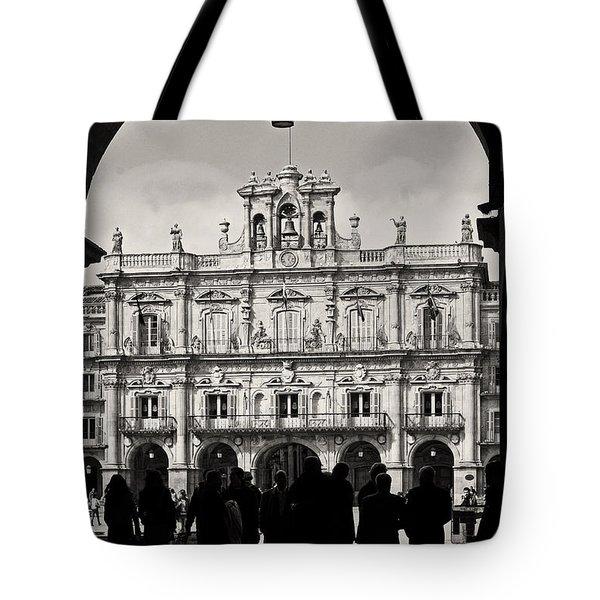 Plaza Mayor Salamanca Tote Bag by Rudi Prott