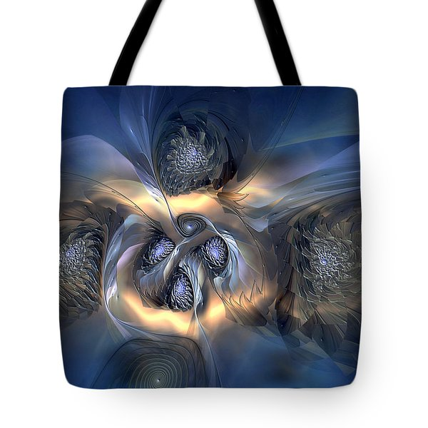 Tote Bag featuring the digital art Pleasant Effusion by Casey Kotas