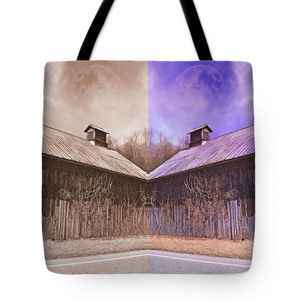 Pleasant View Country Barns Tote Bag by Betsy Knapp