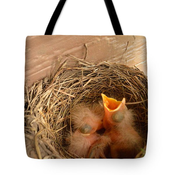 Please Feed Me Tote Bag