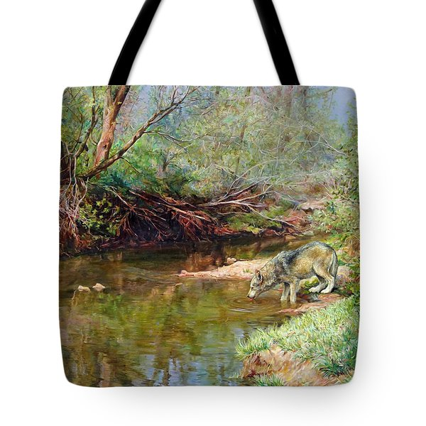 Pleasure Of  The Enchanted Wolf Tote Bag by Svitozar Nenyuk