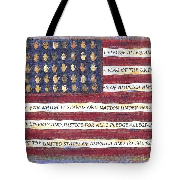Pledge Flag Tote Bag