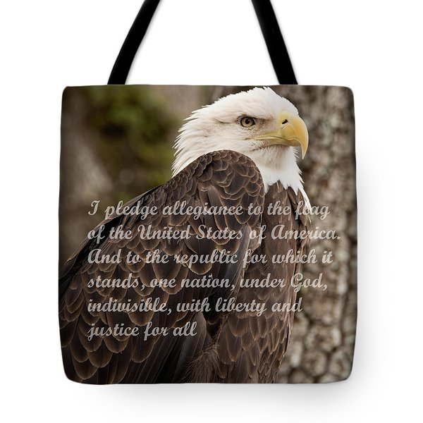 Pledge Of Allegiance Tote Bag