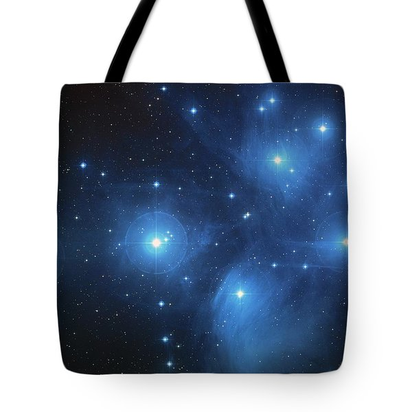 Tote Bag featuring the photograph Pleiades - Star System by Absinthe Art By Michelle LeAnn Scott