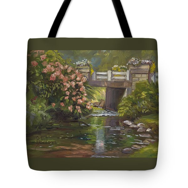 Plein Air - Bridge And Stream Tote Bag