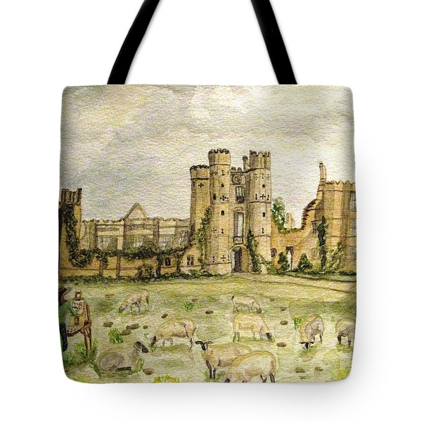 Plein Air Painting At Cowdray House Sussex Tote Bag