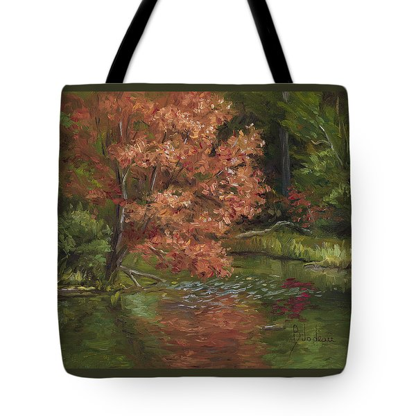 Plein Air - Red Tree Tote Bag
