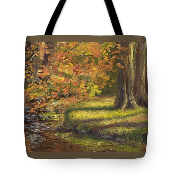 Plein Air - Trees And Stream Tote Bag