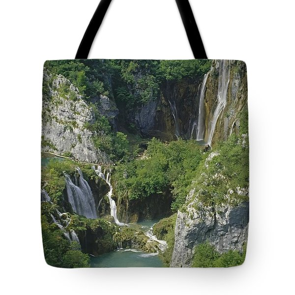 Tote Bag featuring the photograph Plitvice Lakes In Croatia by Rudi Prott
