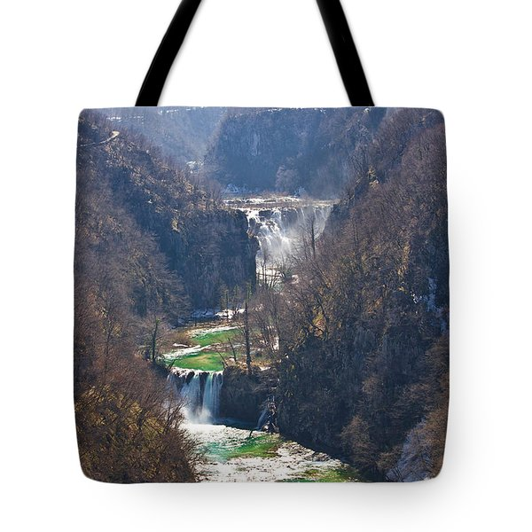 Plitvice Lakes National Park Canyon Tote Bag