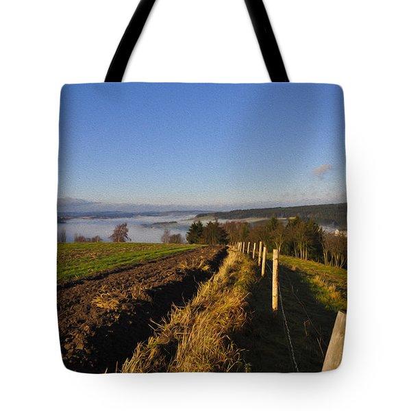 Plowed Field Tote Bag by Aged Pixel