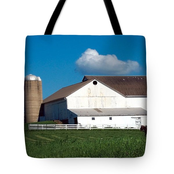 Tote Bag featuring the photograph Plowing The Field by Gena Weiser