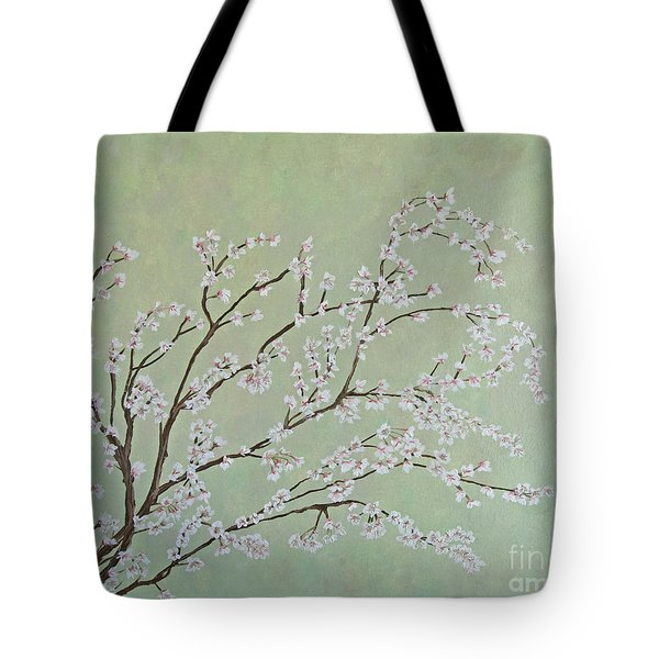 Tote Bag featuring the painting Plum Blossoms by Cindy Lee Longhini