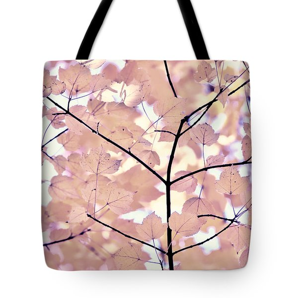 Plum Cream Leaves Melody Tote Bag by Jennie Marie Schell
