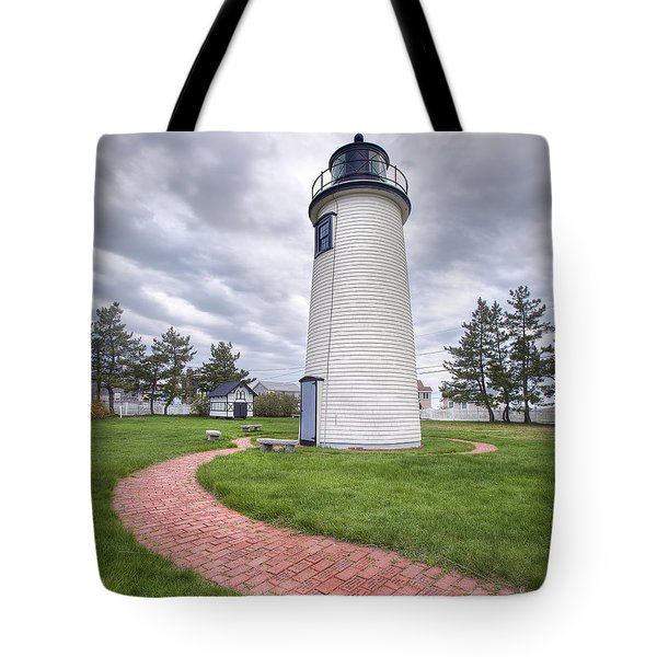 Plum Island Lighthouse Tote Bag by Eric Gendron