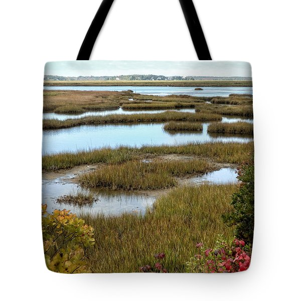 Plum Island Marshes In Autumn 2 Tote Bag