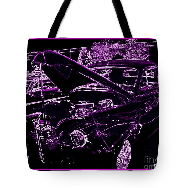 Tote Bag featuring the digital art Plum Perfect by Bobbee Rickard