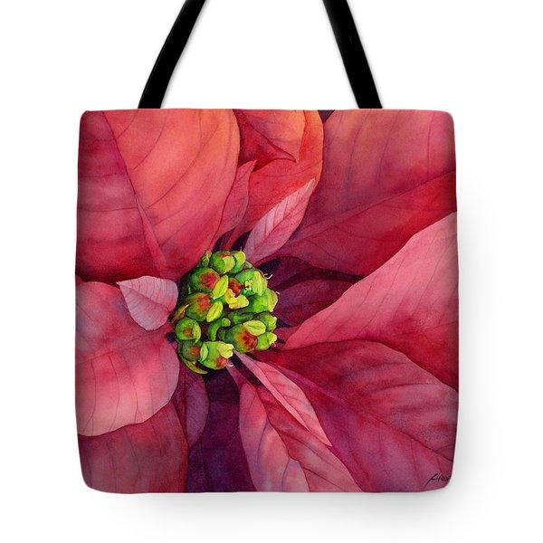 Plum Poinsettia Tote Bag