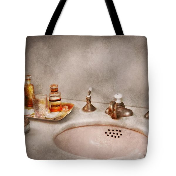 Plumber - First Thing In The Morning Tote Bag by Mike Savad