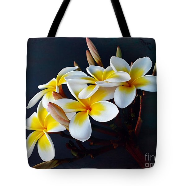Plumeria Bouquet 2 Tote Bag by Kaye Menner