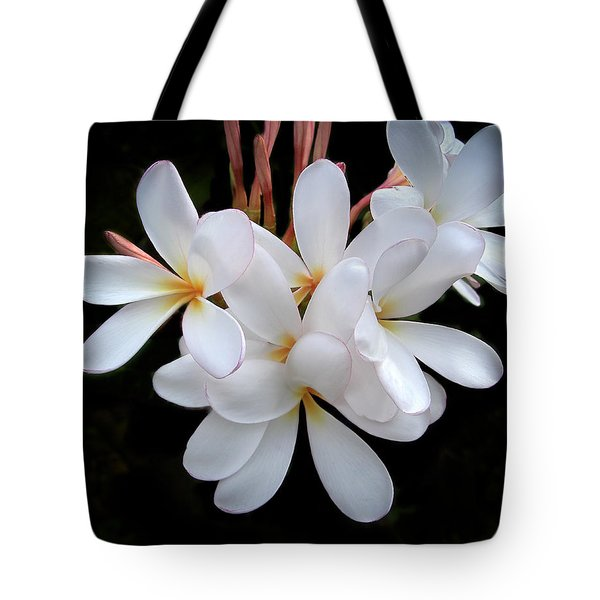 Plumeria Tote Bag by Penny Lisowski