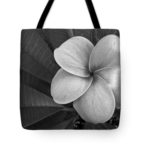 Plumeria With Raindrops Tote Bag