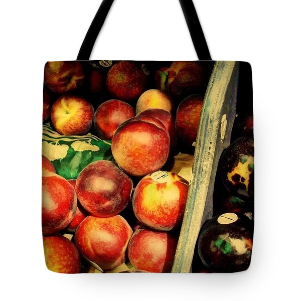 Tote Bag featuring the photograph Plums And Nectarines by Miriam Danar
