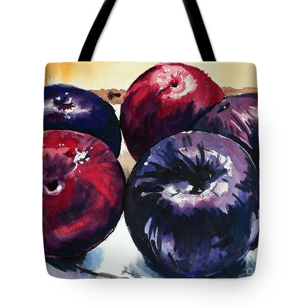 Plums Tote Bag by Joey Agbayani