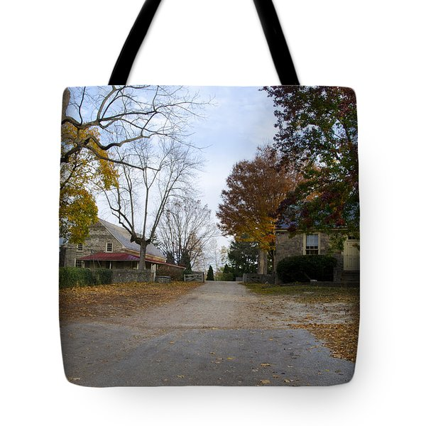 Plymouth Meeting Friends In Autumn Tote Bag by Bill Cannon