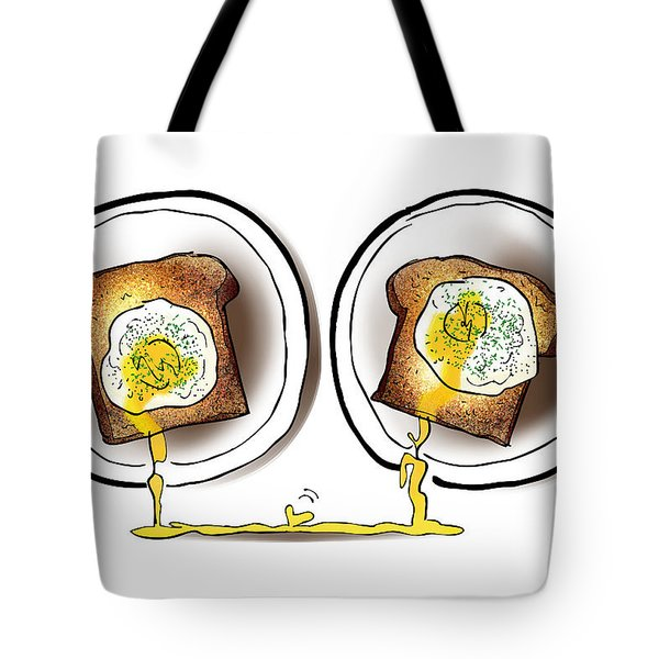 Poached Egg Love Tote Bag