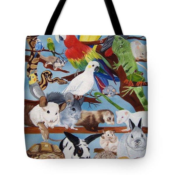 Pocket Pets Tote Bag by Debbie LaFrance