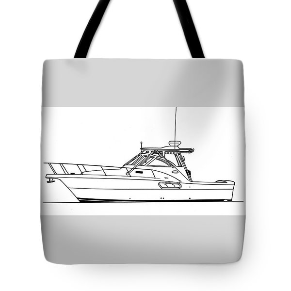 Pocket Yacht Profile Tote Bag by Jack Pumphrey