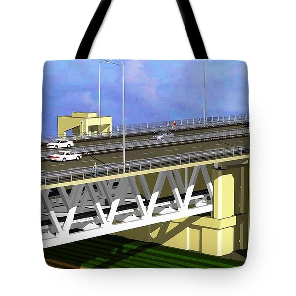 Podilsky Bridge Tote Bag