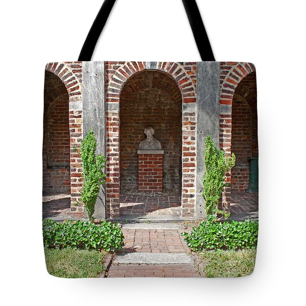 Tote Bag featuring the photograph Poe Garden by Jean Haynes