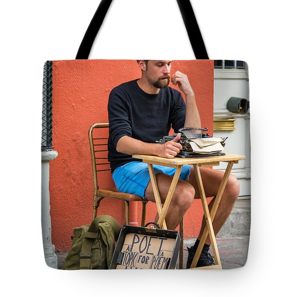 Poet For Hire Tote Bag by Steve Harrington