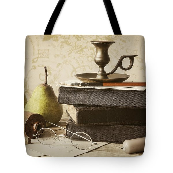 Poet's Corner Tote Bag by Amy Weiss