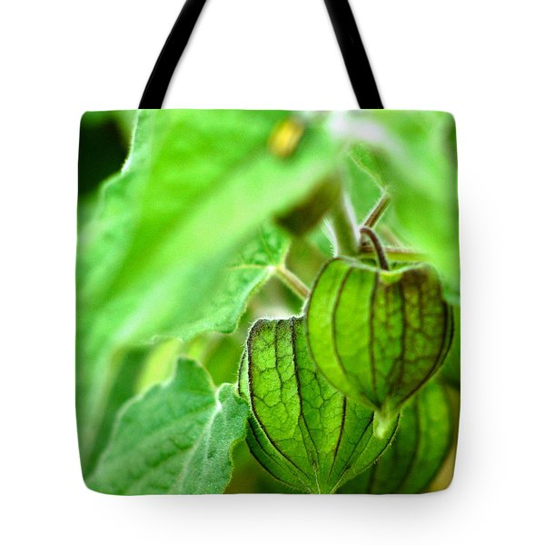Poha Berry Lanterns Tote Bag by Lehua Pekelo-Stearns