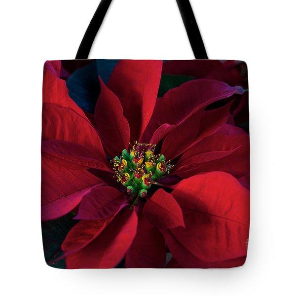 Poinsettia All Profits Go To Hospice Of The Calumet Area Tote Bag